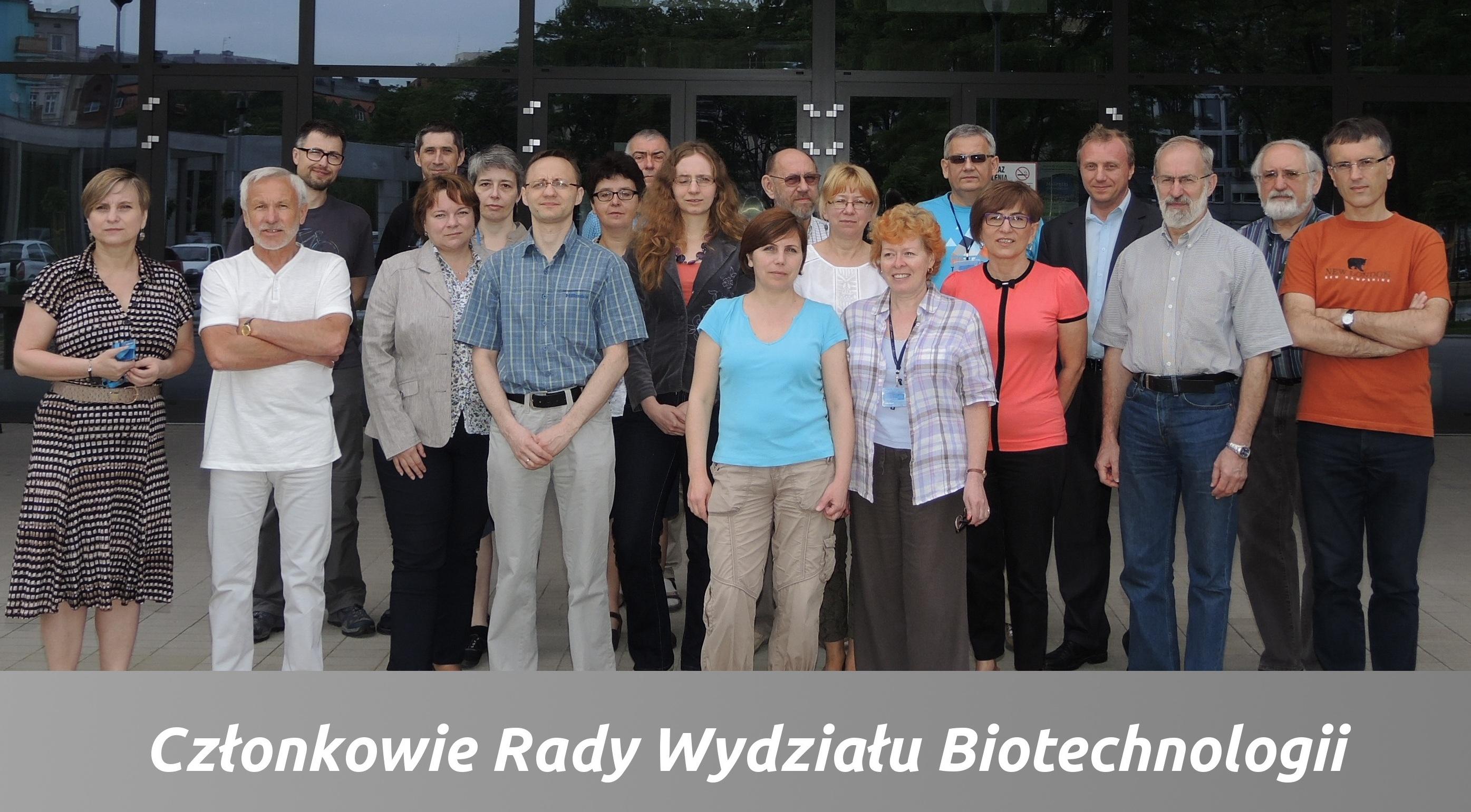 Skład Rady Wydziału Biotechnologii